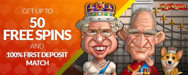 Get up to 50 Free Spins and 100% First Deposit Match
