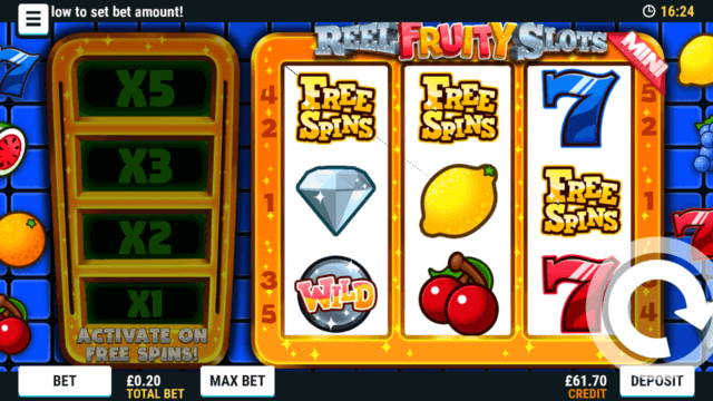Reel Fruity Slots Mini mobile slots by Mr Spin